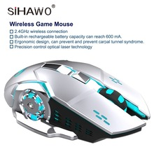 Wireless Mouse 2.4GHz Gaming Mouse Ergonomic Design Gaming Mouse 2400DPI DC 3.7V18mA 10 Million times Click USB Mouse For Laptop цена