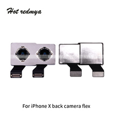 Rear Back Camera With Flex Cable For iphone X Big Back Main Camera Lens Module Ribbon Repair Replacement Parts все цены