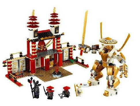 BELA 577pcs Phantom Ninja Temple of Light Golden The Final Battle figures Building Blocks Compatible With LG Ninja phantom page light