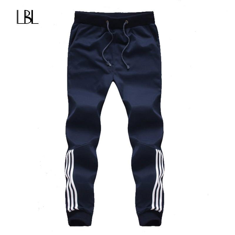 2018 New Fashion Pantaloni di Tuta Mens Pantaloni Casual Pantaloni Della Tuta di Cotone Mens Jogging Pantaloni Pantaloni A Righe Palestre Abbigliamento Plus Size 5XL