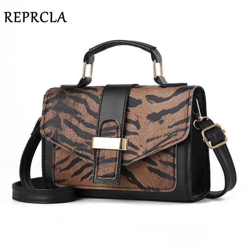 REPRCLA Crossbody-Bags Women Handbag Leopard-Print Fashion Ladies PU for Bolsa