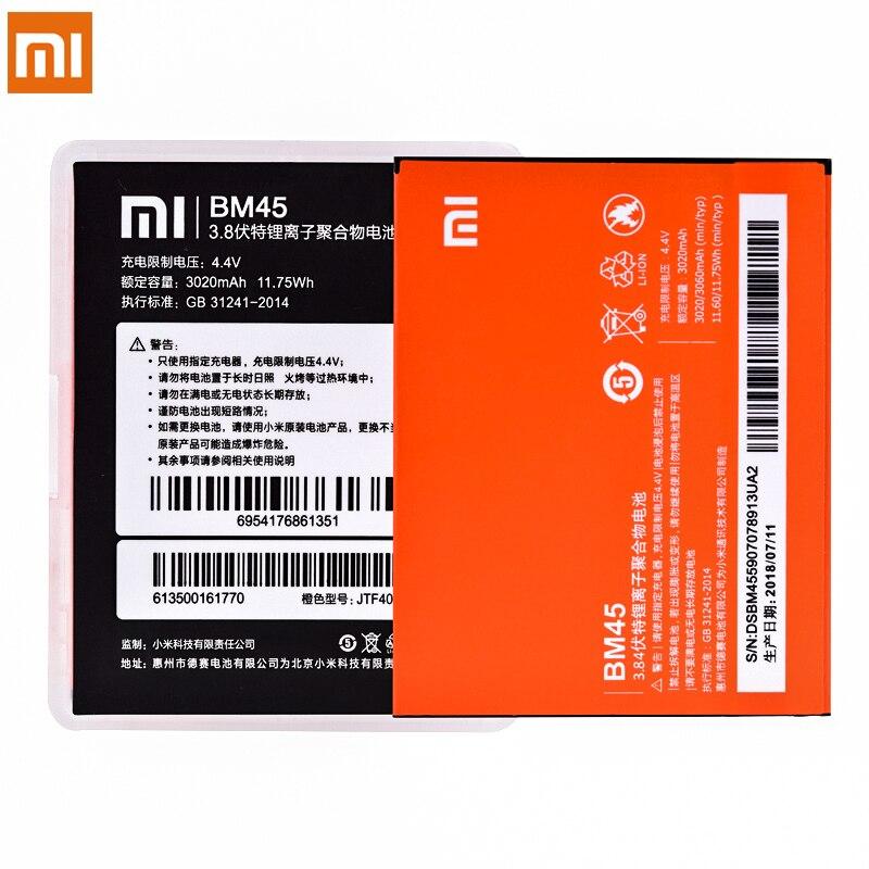 Original Batterie BM45 BM46 BM42 BN43 BN41 Für Xiaomi Redmi Hinweis 2 3 4 4X Note2 Note3 Ersatz Batterien Hohe kapazität Bateria