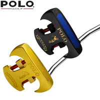 POLO Golf Putter SR Formal Competitions Stainless Steel Men's Push Rod Regular Golf Club Gold Black Golf Clubs
