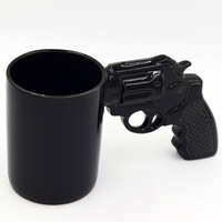 2018 NEW Handle Coffee PistolCeramic Cup Funny pistol shape ceramic mug Ceramic Cup Party Unique Gift