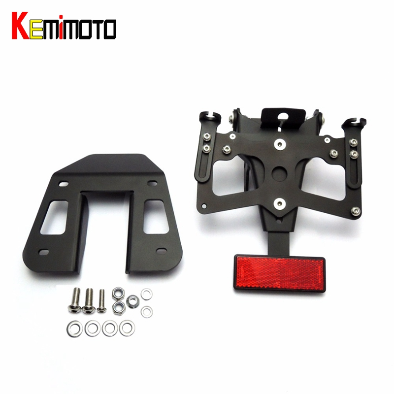 KEMiMOTO YZF R25 R3 Rear Tail Tidy Fender Eliminator Kit License Plate Holder For Yamaha YZF R3 R25 2015 2016 Billet Aluminum for suzuki gsxr1000 2007 2008 motorcycle licence plate bracket tail tidy rear fender eliminator billet aluminum
