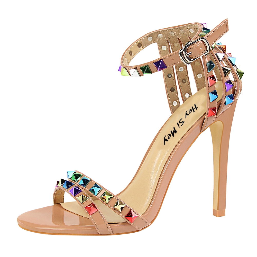 BBZAI The New Female shoes superstar sandals shoes woman Wedding shoes high quality Ladies high heels 11CM Amazing shoes 4-9 <font><b>10</b></font> image