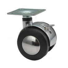Free Shipping Zinc Alloy Mute Wheel 2 Office Chair Swivel Casters Rolling Rollers Furniture Wheels Casters With Brake цена