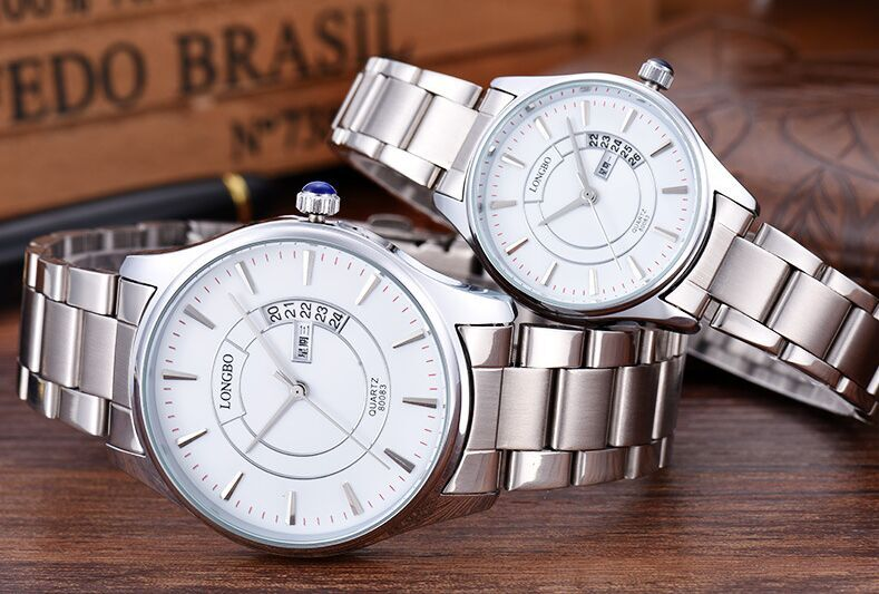Fashion Brand Woman Man Couple Watch Casual Calendar Watches Full Stainless Sports Quartz Watch Men's Relogio Masculino Relojes