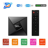 Tanix TX9 Pro TV Box Amlogic S912 Octa core CPU Android 7.1 OS 4K Smart TVBOX 1000M LAN 3G RAM 32G ROM 5.8G WIFI Media Player