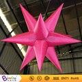 Envío Libre accesorios de la boda del Día de San Valentín decoración de nylon Rojo estrellas inflables para el juguete de iluminación