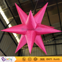 Free Shipping Valentine's Day wedding accessories decoration Red nylon inflatable stars for lighting toy