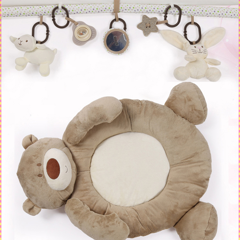 Tapis de développement de bébé pour les nouveau-nés épais tapis doux pour enfants avec hochet en peluche jouet Musical éducatif bébé activité Gym tapis de jeu - 6