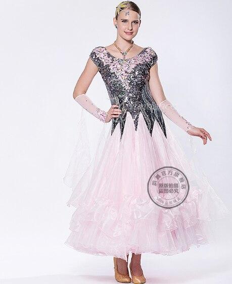 customize pink black rhinestone Waltz tango salsa Fox trot ballroom Quick  step dress competition for black pool 2ff799fd49eb