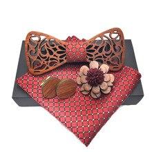 Noeud Papillon мужской галстук-бабочка из твердой древесины для мужчин, классический галстук-бабочка, креативный галстук-бабочка ручной работы из дерева, галстук-бабочка Gravata