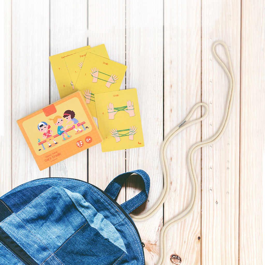 Chińska lina tkactwo burza mózgów gra dla dzieci zabawa Puzzle wczesne zabawki edukacyjne klasyczna Finger String zabawka na palce dla dzieci prezent