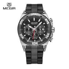 Montre de MEGIR hommes Top marques De Luxe chronographe sport montres de mode lumineux running man quartz montre-bracelet livraison gratuite 3009