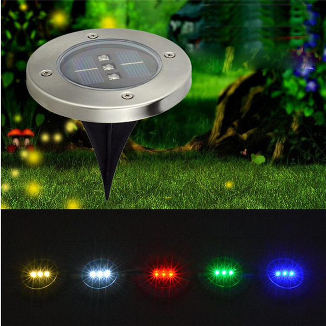 Solar landscape underground light 3leds waterproof in for In ground walkway lights