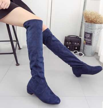 2018 Brand new Hot Women Boots Autumn Winter Ladies Fashion Flat Bottom Boots Shoes Over The Knee Thigh High Suede Long Boots
