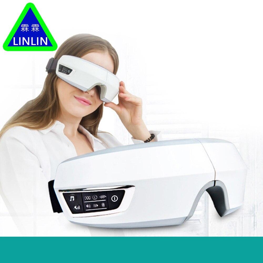 Électrique Air pression Eye massager avec mp3 fonctions. Sans Fil vibrations eye magnétique infrarouge lointain chauffage. soins Oculaires