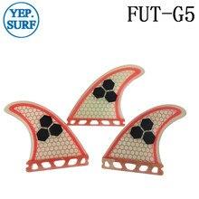 Surfboard Fin Future G5 Quilhas Light Red Fibreglass Surf Fins