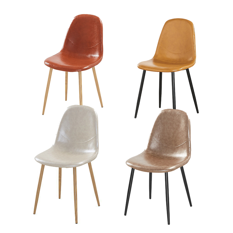 4pcs  Nordic Minimalist Style Hotel Dining Chair Leisure Talk Cafe Back Chair Home Dining Chair Free Shipping
