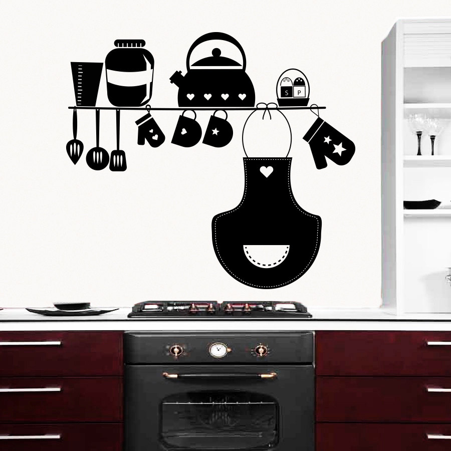 Buy favorite kitchen wall decals cookware for Poster deco cuisine