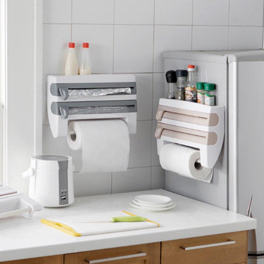 US $19.04 30% di SCONTO|ABS utile Cucina Distributore di Carta Velina  Dell\'involucro Pellicola Cinematografica Portarotolo Da Cucina Rack di ...
