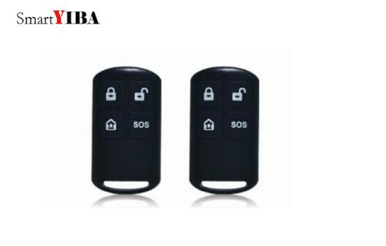 SmartYIBA 433Mhz Black Remote Controller Arm/Disarm SOS Button Wireless Plastic Remote Controller For YB103/YB104 Alarm System smartyiba 433mhz black remote controller arm disarm sos button wireless plastic remote controller for yb103 yb104 alarm system
