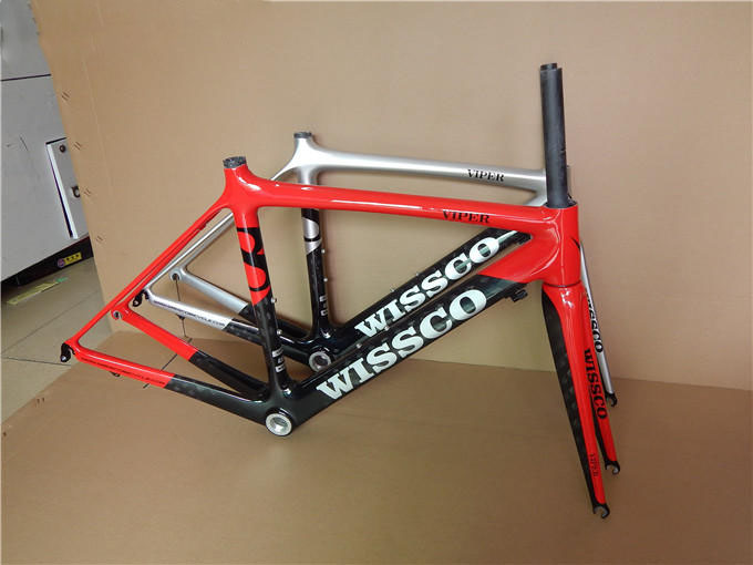 Carbon Frame Light Weight Wissco 49cm Full Carbon Road Tapered Fork Racing  Raod Bike Frame