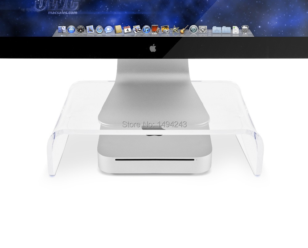 2016 Christmas Gift Acrylic Computer Monitor Desk Riser Stand For Mini Clear 300 L 200 W 100mm H In Tablet Stands From Office On