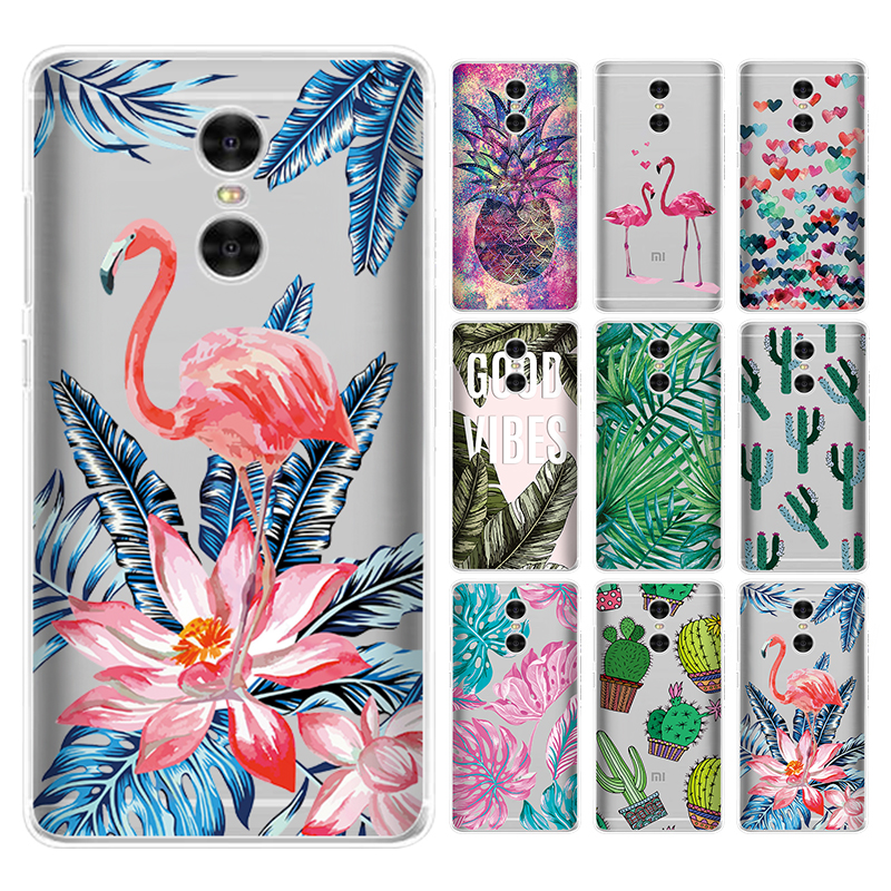 Cactus Plant Painted Pattern Case For Xiaomi Redmi 5 Plus Note 4 4X 6 Pro  S2 5A 6A Soft TPU Back