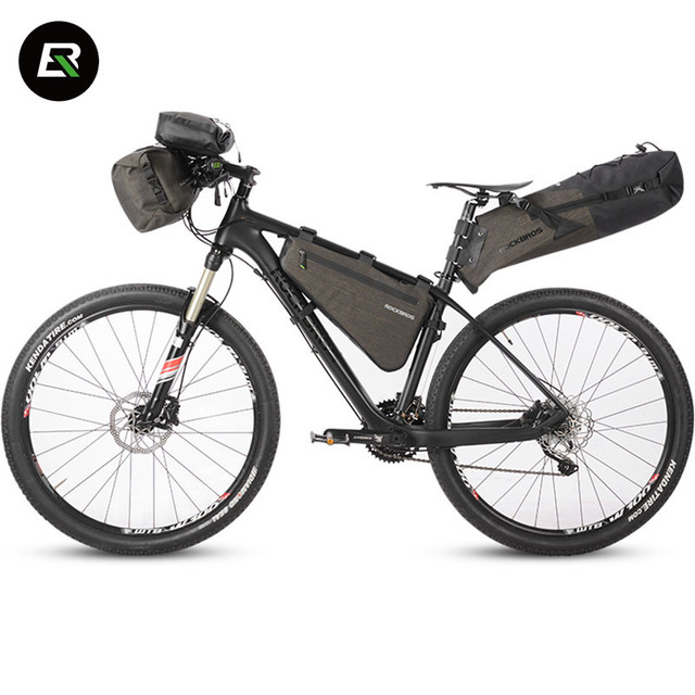Rockbros Bike Bag Waterproof Rainproof Series Bicycle Bag Cycling Front Frame Tube Saddle Bag Handlebar Bags Bike Accessories