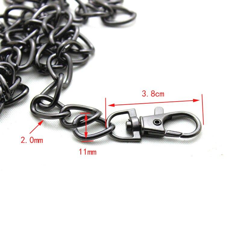 5pcs/lot 120CM Accessories for Bags New Metal Chain Purse Buckles Shoulder Wide Bags Straps Shoulder Crossbody Bag Parts