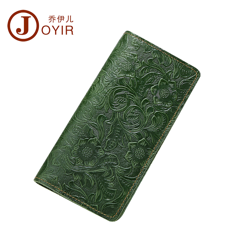 JOYIR Genuine Leather Passport Cover Women Travel Wallet Colorful Embossed Flower Travel Passport Holder Business Card ID Holder joyir men passport cover genuine leather passport holder travel wallet card wallet credit card holder porte carte business male