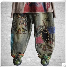 New product release in the autumn of 2016, the original design cowboy cotton loose big yards of women's harem pants