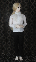 doll accessories bjd clothes 1/3 Bjd 70cm doll male suit set white shirt black pants other size can be customized