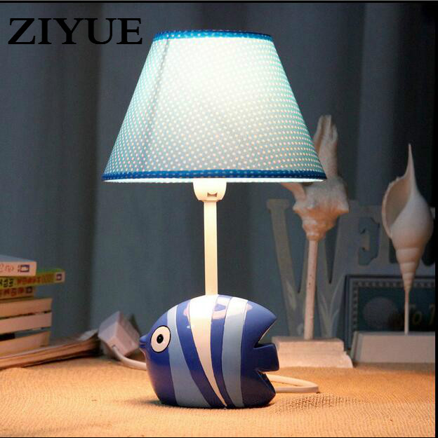 Us 19 0 Kids Cute Fish Child Table Lamp Bedroom Decoration Dimming Cartoon Birthday Gift In Lamps From Lights Lighting On