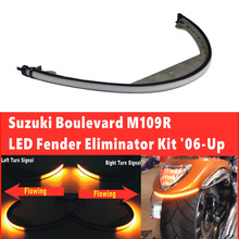 Мотоцикл светодио дный Fender свет бар фонарь последовательного течет поворота тормоза Saignal лампа для Suzuki Boulevard M109R/M90-на 2006