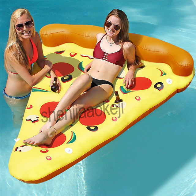 Inflatable Pizza Giant Pool Float Beach Mattress Large water Party Toys PVC floating bed Swimming Ring floating row Kids Adults