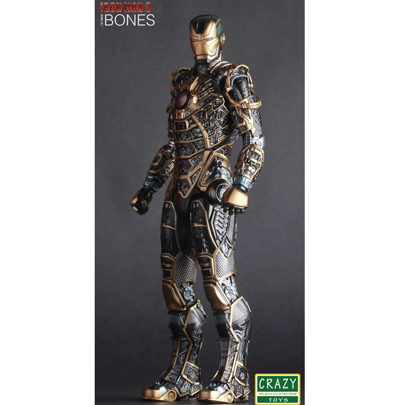 Iron Man Mark XLI Bones Doll PVC Action Figure Collectible Model Toy 30cm KT2521