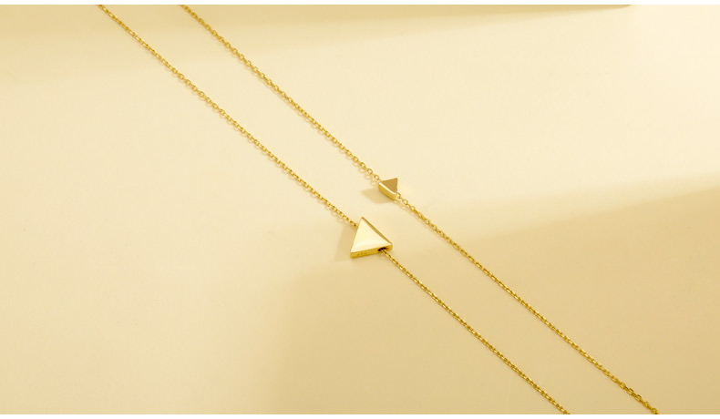 Silver Triangle Shaped Pendant Necklace