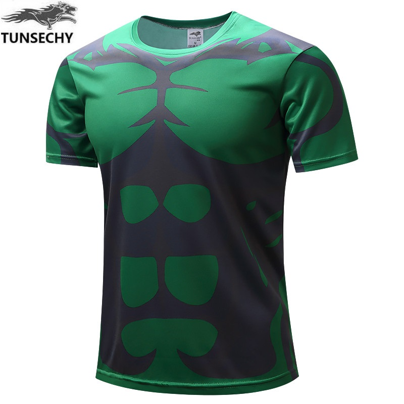 Chivalry in 2017 Original hulk han edition individuality leisure summer wear short-sleeved men round neck T-shirt Free shipping