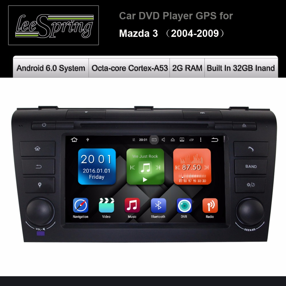 Android 6.0 AUTO DVD-Player für <font><b>MAZDA</b></font> 3 2004-2009 AUTORADIO GPS Navigation image