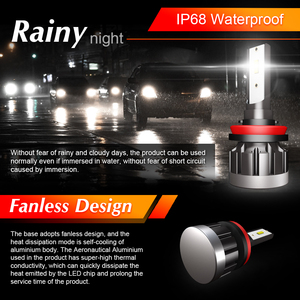 Image 2 - CROSSFOX h4 bi led h7 רכב פנס led h11 h9 h8 h1 9005 HB3 9006 HB4 אוטומטי מנורת הנורה שינוי עבור מכוניות 12V 6000K ערפל אורות 2x