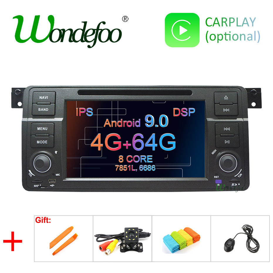DSP IPS Android 9 0 4G RAM 64G ROM Car GPS Radio stereo For BMW E46