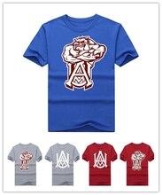 2016 2017 sommer Alabama A & M Bulldogs logo t-shirt männer T-shirt Gitarre Kühlen T-shirt Gedruckt Tees 100% baumwolle