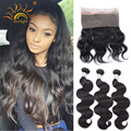 Preplucked Peruvian Virgin Hair Body Wave 360 Frontal With Bundles 22.5*4*2 with Adjustable Straps 2Bundles with 360 Frontal