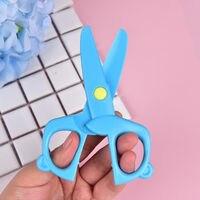 1 шт. 120 мм мини пластик детская безопасность круглая голова ножницы бумага резка миньоны принадлежности для детского сада дети студент