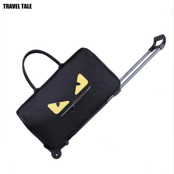 TRAVEL TALE 22 inch little monster roll bag duffle bag with rod seyahat bavul trolley travel bag
