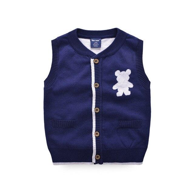Mode Kinder Pullover Weste Häkeln Jungen Oberbekleidung Weste